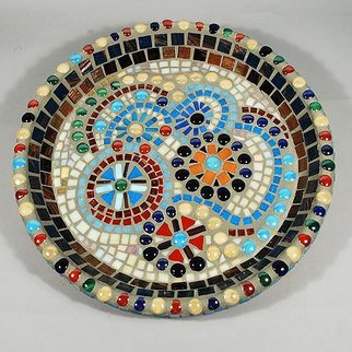 Jerry Reynolds: 'Mosaic Bowl', 2015 Mosaic, Floral.      Mosaics are all one of a kind hand made to order. Each mosaic is an authentic piece of art unique to itself. No two mosaics are ever alike.          ...