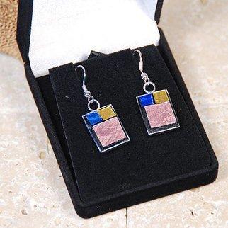 Jerry Reynolds Artwork Mosaic Earrings, 2015 Mosaic Earrings, Fashion