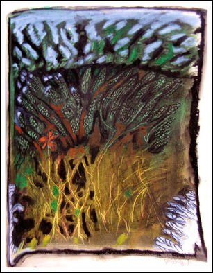 Don Schaeffer Artwork Bush in Snow, 2011 Oil Pastel, Nature
