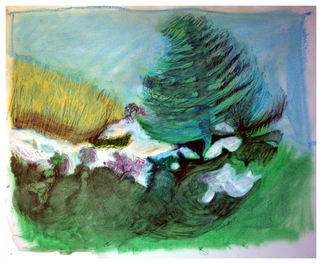 Don Schaeffer Artwork Winter Scene, 2011 Oil Pastel, Nature