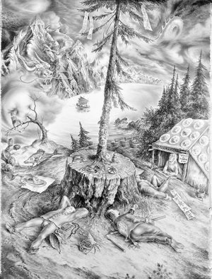 Alexander Donskoi Artwork beautiful british columbia, 2014 Pencil Drawing, Surrealism