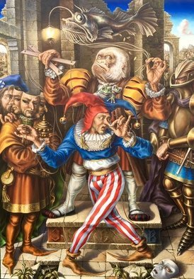 Alexander Donskoi Artwork classified stupidity, 2016 Oil Painting, Surrealism