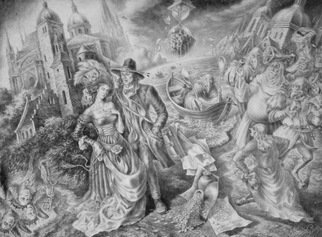 Alexander Donskoi Artwork european rhapsody, 2016 Pencil Drawing, Fantasy