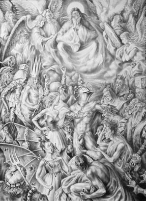 Alexander Donskoi Artwork kinder-surpise age, 2016 Pencil Drawing, Philosophy