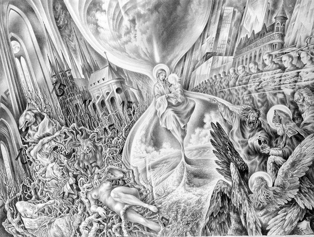 Alexander Donskoi  'Laokoon Of Democracy', created in 2014, Original Drawing Pencil.