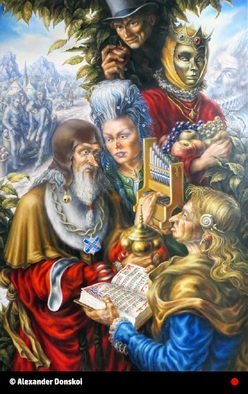 Alexander Donskoi: 'the harvest', 2015 Oil Painting, Fantasy. Artist Description: