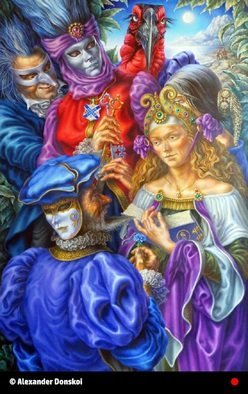 Alexander Donskoi Artwork the key of masquerade, 2015 Oil Painting, Figurative