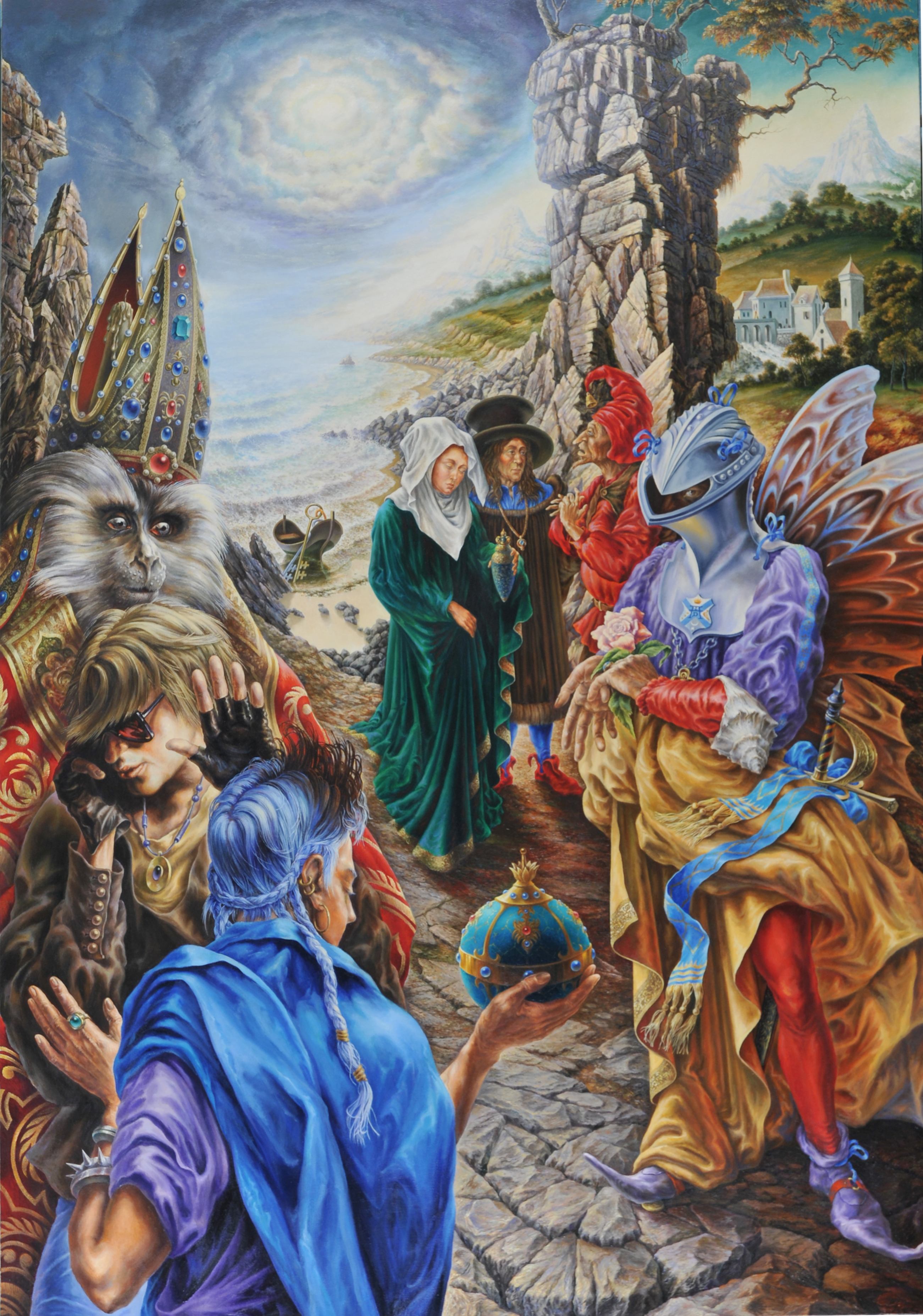Alexander Donskoi Artwork the presentation of gifts, 2014 Oil Painting, Surrealism