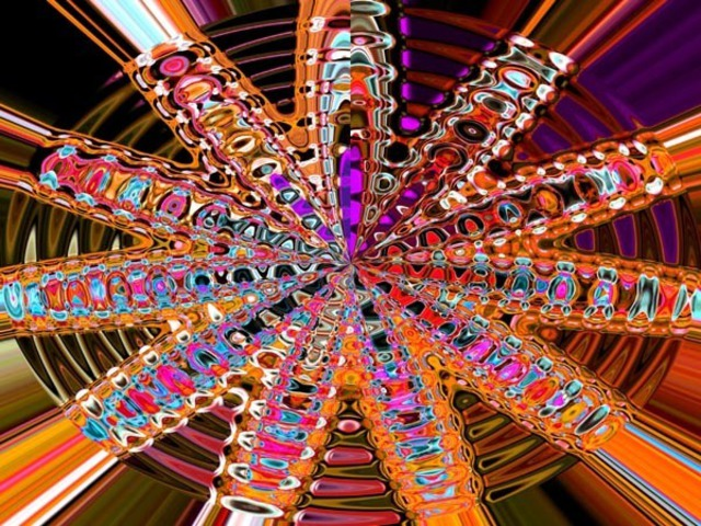 Dora Martinez  'GLASS STAR', created in 2008, Original Computer Art.
