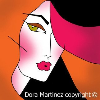 Dora Martinez: 'HANNA', 2009 Digital Art, Fashion. Digital Art printed on canvas with glaze accentsDora Martinez Doram...