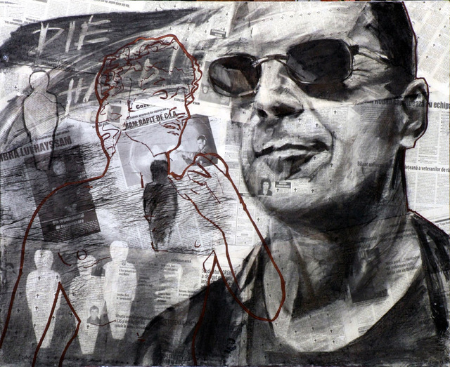 Artist Topan Dorel. 'DIE HARD' Artwork Image, Created in 2008, Original Drawing Charcoal. #art #artist