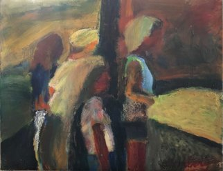 Bob Dornberg: 'group', 2021 Oil Painting, Expressionism. PEOPLE ENTER AS A GROUP...