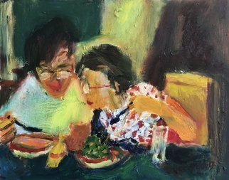 Bob Dornberg: 'my soup', 2020 Oil Painting, Abstract Figurative. INTEREST IN SOUP...