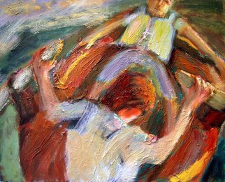 Bob Dornberg Artwork pd5 rowing boys, 2014 Oil Painting, undecided