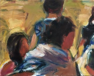 Bob Dornberg: 'pumpkin patch', 2019 Oil Painting, Abstract Figurative. Children searching for Pumpkins...