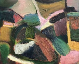 Bob Dornberg: 'standing up', 2020 Oil Painting, Abstract. ABSTRACT COLORS AND FORMS...