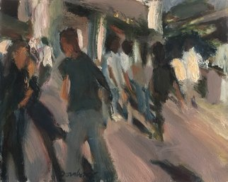 Bob Dornberg: 'theatre goers', 2020 Oil Painting, Abstract Figurative. Rush to Theatre...