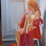 Girl In Red By Dorothy Sitka