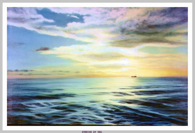Dorothy Sitka  'Sunrise At Sea', created in 2007, Original Painting Oil.