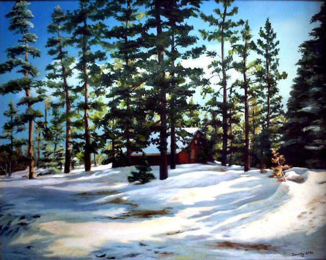 Dorothy Sitka  'Tahoe Snow', created in 2006, Original Painting Oil.