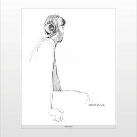 C. Doug Anderson Artwork Study For Seans Girl, 2013 Pen Drawing, Figurative