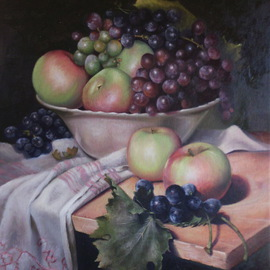 Dragana Simic: 'Still life with fruits', 2013 Oil Painting, Still Life. Artist Description:                      oil on canvas         oil on canvas    oil on canvas        ...
