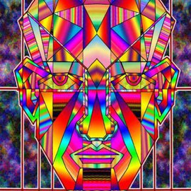 Charles Frederickson Artwork face lift, 2014 Digital Drawing, Surrealism
