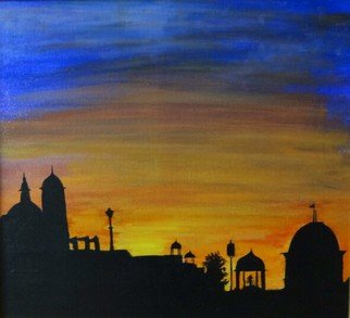 Dr Vijay Prakash: 'Sunset at India Gate', 2016 Acrylic Painting, Country. Artist Description:  Gate Shot, Sunsets, Adorable India, Beautiful India , Delhi ...