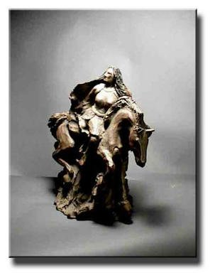 Depree Shadowwalker Artwork Fallen Warrior, 2002 Ceramic Sculpture, Representational