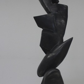 Daniel Lombardo Artwork Rising Up, 1987 Bronze Sculpture, Abstract