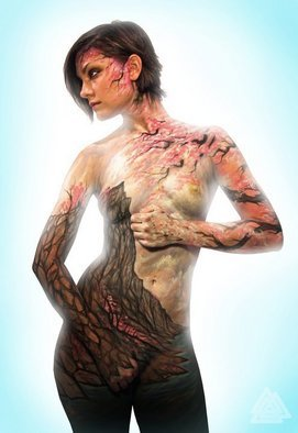 Jerod Alexander: 'blossom cliffs', 2010 Color Photograph, Beauty. Artist Description:     i body paint women like nature.    ...