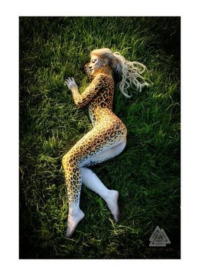 Jerod Alexander: 'catnap', 2010 Color Photograph, Beauty. Artist Description:    i body paint women like nature.   ...