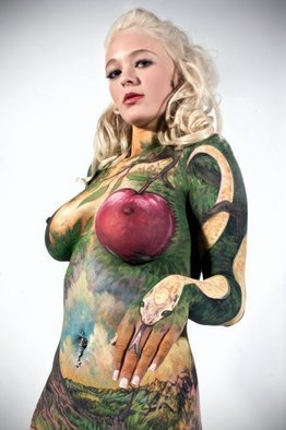 Jerod Alexander: 'eden', 2010 Color Photograph, Beauty. Artist Description:  i body paint women like nature. ...