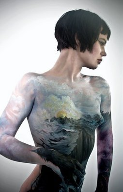 Jerod Alexander: 'the great divide', 2010 Color Photograph, Beauty. Artist Description:   i body paint women like nature.  ...