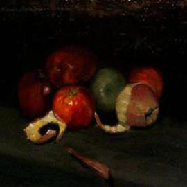 Lou Posner: 'Apples', 2000 Oil Painting, Still Life. Artist Description: The tradition of painting fruit goes back to ancient Roman times. [ SOLD 3- 17- 01]...