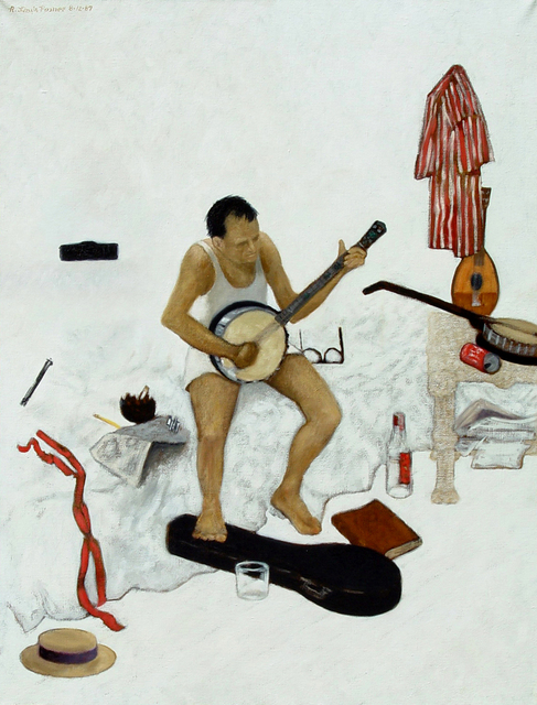 Lou Posner  'Banjo Player', created in 1987, Original Other.