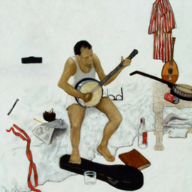 Banjo Player  By Lou Posner