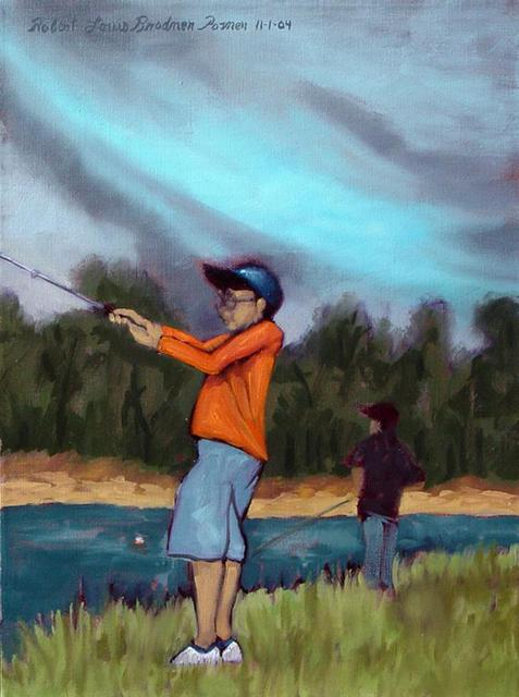 Lou Posner  'Boys Fishing', created in 2004, Original Other.