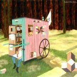 Carpenters Wheel Artist And Portable Studio, Lou Posner