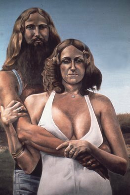 Lou Posner Artwork Dale and Denise, 1972 Oil Painting, Portrait