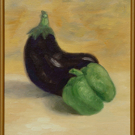 Eggplant and Green Pepper