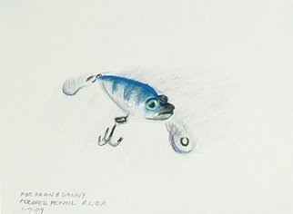 Pencil Drawing by Lou Posner titled: Fishing Lure, created in 2009