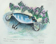 - artwork Fishing_Lure_with_Vegetation-1328299377.jpg - 2009, Drawing Pencil, undecided