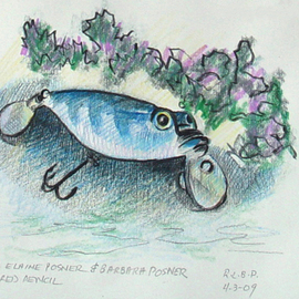 Fishing Lure with Vegetation