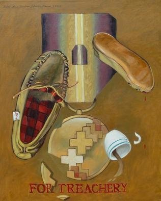 Lou Posner Artwork For Treachery, 2004 Oil Painting, Christian
