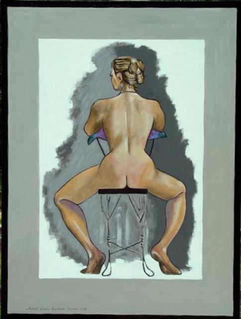 Lou Posner  'Girl Seated On Ice Cream Parlour Chair', created in 2002, Original Other.