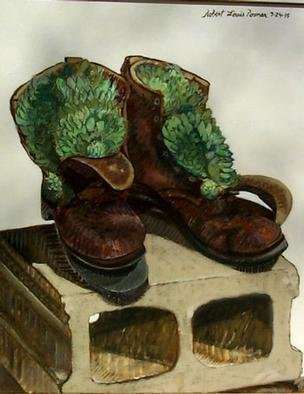 Lou Posner  'Hens And Chicks In Boots', created in 1995, Original Other.