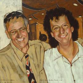 Lou Posner Artwork Lou Posner and Mike Marshall, 2005 Oil Painting, Music