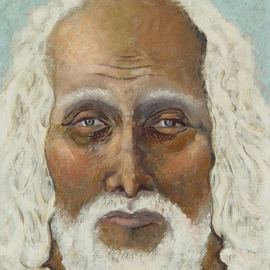 Lou Posner Artwork Moses, 1978 Oil Painting, Religious