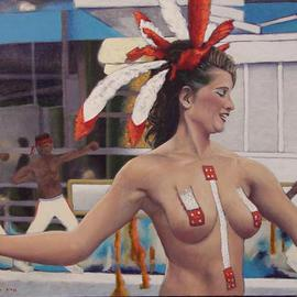 Lou Posner Artwork Passista, 2006 Oil Painting, Dance
